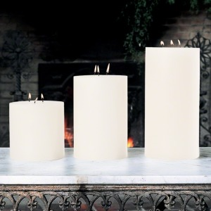 "3 Wick Pillar Candle-Unscented-6""x6"""