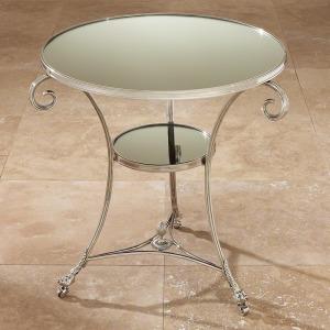 Gueridon Table-Nickel & Mirror