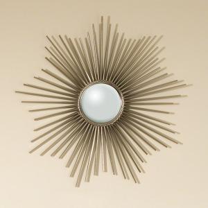 Mini Sunburst Mirror-Nickel