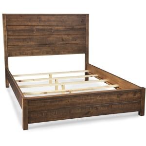 Montauk Queen Solid Wood Bed - Rustic Walnut