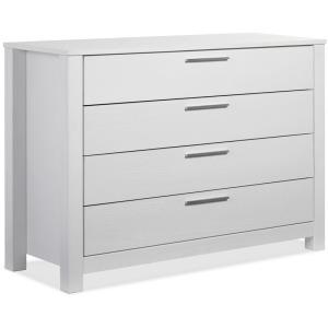 Loft 4 Drawer Dresser - Brushed White