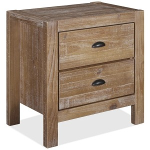 Montauk Two-Drawer Nightstand - Driftwood