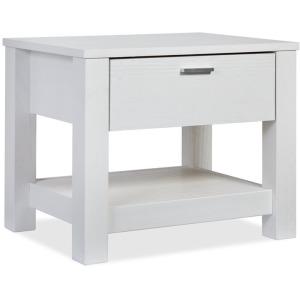 Loft One-Drawer Nightstand - Brushed White