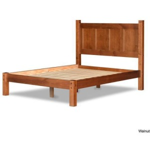 Shaker Queen Panel Platform Bed - Walnut