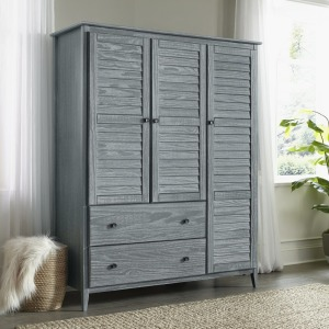 Greenport 3-Door Wardrobe - Brushed Grey