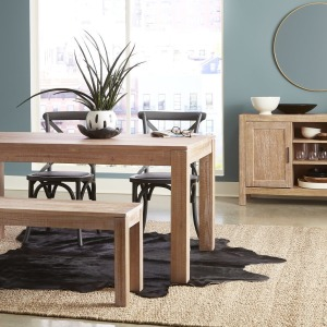 Montauk Solid Wood Dining Table - Driftwood