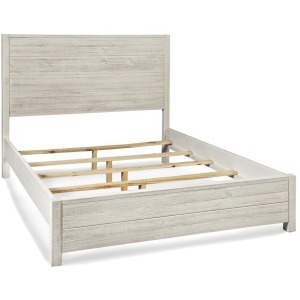 Montauk Queen Solid Wood Bed - Rustic Off-White
