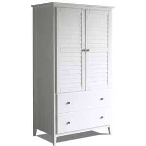 Greenport 2-Door Wardrobe - Brushed White