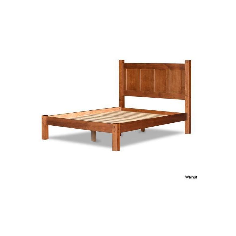 Shaker Queen Panel Platform Bed, Grain Wood Furniture Montauk Queen Solid Panel Bed Rustic Walnut