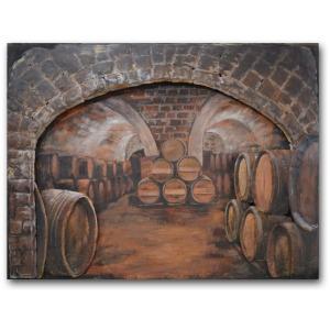 Cellar 35×47 Metal on Wood