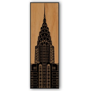Chrysler Building WR 16×48 Wood Relief