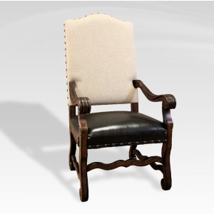 Hayden Arm Chair Natural Linen/Lea Seat