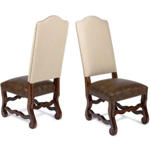 Hayden Side Chair Natural Linen/Primo Timber