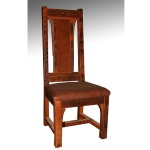 BUFFALO BILL – SIDE CHAIR with leather seat