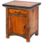 Mossy Oak Natchez Trace 1 Door Nightstand - Hinged Left