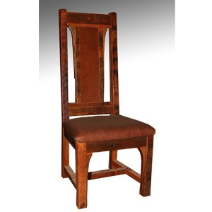 BUFFALO BILL – SIDE CHAIR with leather seat - (Arm Chair)