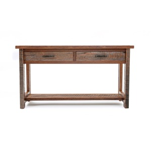 Copperhead 2 drawer Sofa Table w/ Copper
