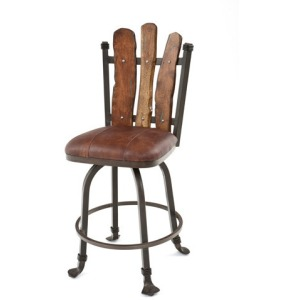 Steel Traditions Scottsdale Swivel Bar Stool w/Leather Seat