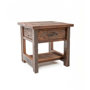 Copperhead 1 Drawer Side Table w/Copper