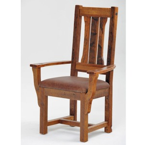 Stony Brooke Arm Chair w/Leather Seat