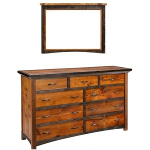 Mossy Oak Natchez Trace 9 Drawer Dresser w/ Mirror
