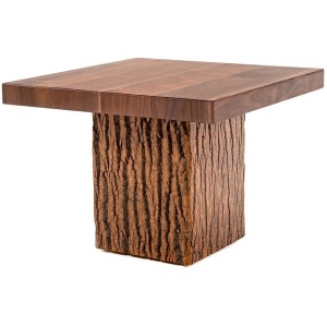 Birchmere Side Table w/Walnut Waterfall Top