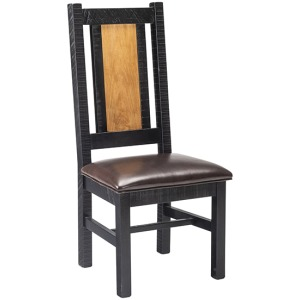 Oakley Side Chair With Leather Seat