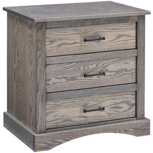 Summerset 3 Drawer Nightstand - Grey Flannel