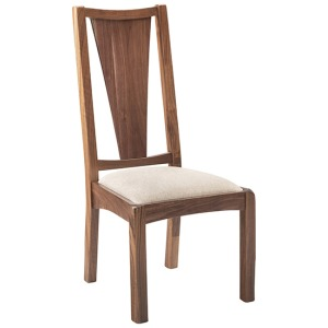 Savannah Walnut Side Chair w/Fabric Seat