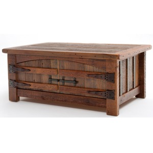 Heritage Teton 2 Door Coffee Table w/ Curved Doors