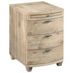 Driftwood Bowfront Chairside Table