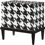 Hidden Treasures Hounds Tooth Cabinet