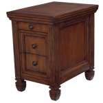 Hidden Treasures Chairside Table - Oak Finish