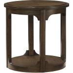 Facet Round End Table - Kd