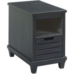 Charging Chairside Table Black