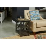 Dark Brown Chairside Table