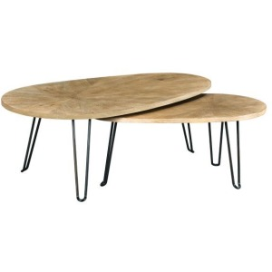 Oblique Bunching Cocktail Table