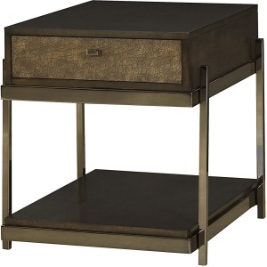 Bruno Rectangular Drawer End Table