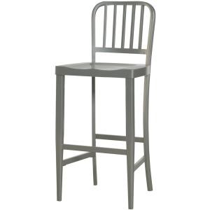 Hidden Treasures Gray Metal Bar Stool