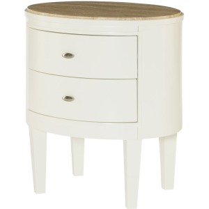 Hidden Treasures Oval Accent Table