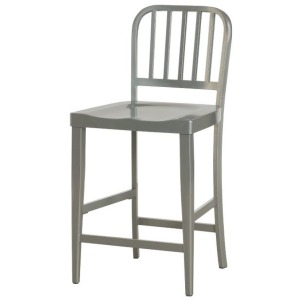 Hidden Treasures Gray Metal Counter Stool