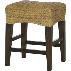 Hidden Treasures Woven Counter Stool With No Back