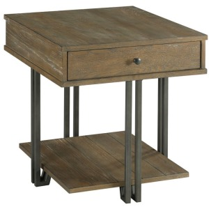 Saddletree-Hamilton Rectangular Drawer End Table