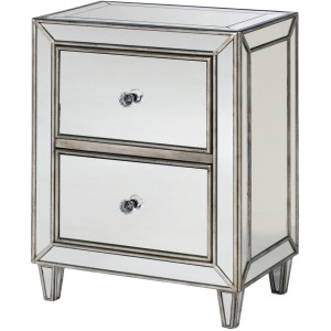 Hidden Treasures Mirrored Drawer Chest