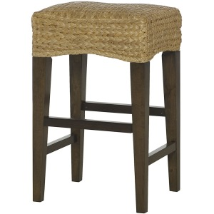 Hidden Treasures Woven Bar Stool With No Back