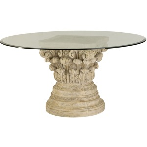 Jessica Mcclintock Home Glass Top Round Dining Table