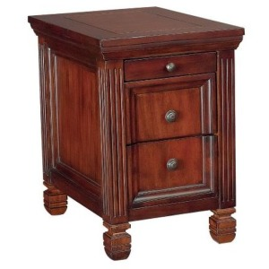 Hidden Treasures Chairside Table - Cherry Finish