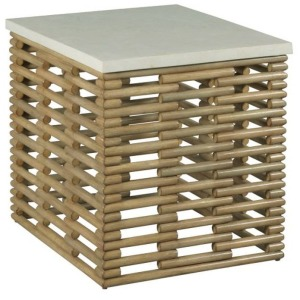 Hidden Treasures Rattan Rectangular End Table