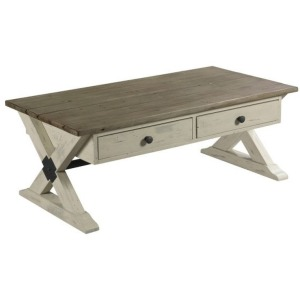 Trestle Rectangular Cocktail Table