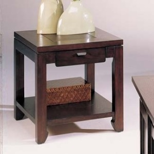Kanson Rectangular Drawer End Table